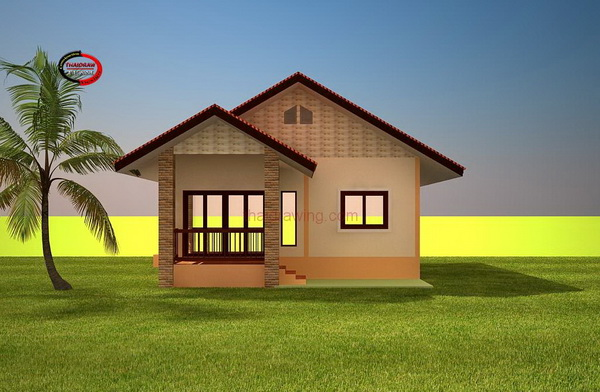 1 floor thai contemporary 500k house plan (1)