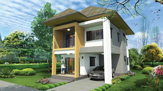 2 storey thai modern hiproof house (1)