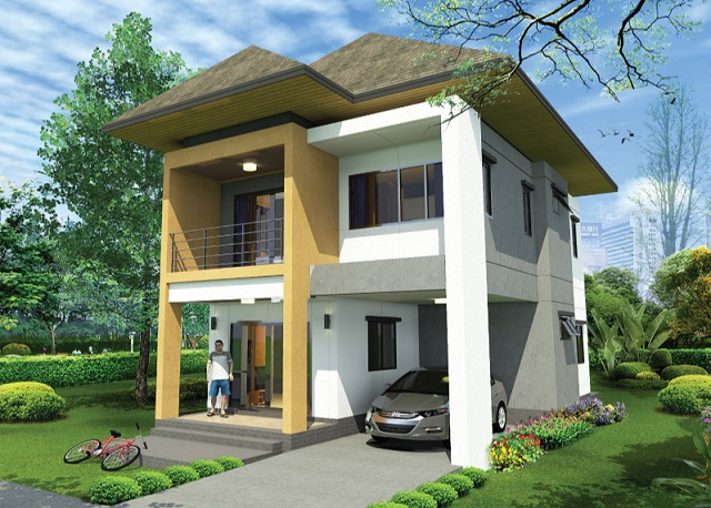 2 storey thai modern hiproof house (2)
