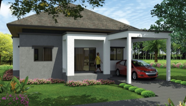 3 bedroom hip roof concrete house (1)