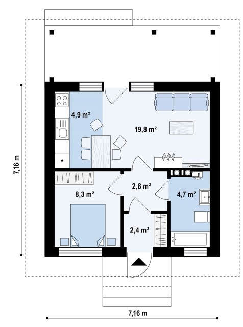 Contemporary Home Compact size (4)