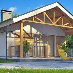 บ้านเดี่ยวขนาด 1 ห้องนอน 1 ห้องน้ำ ออกแบบเรียบง่าย หลังคาทรงจั่ว อยู่ในงบ 6 แสนบาท