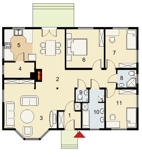 Contemporary House 3 bedroom 3 bathroom elegant in shape (1)