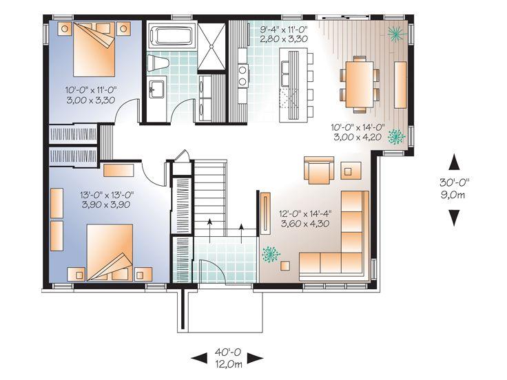 Contemporary home 2 bedrooms 1 bathroom Vulgate tastes (2)
