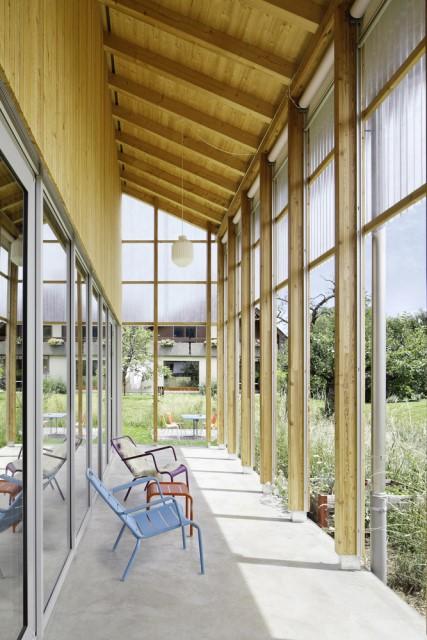 Contemporary villa house Wood decor (3)