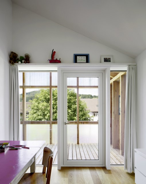Contemporary villa house Wood decor (6)