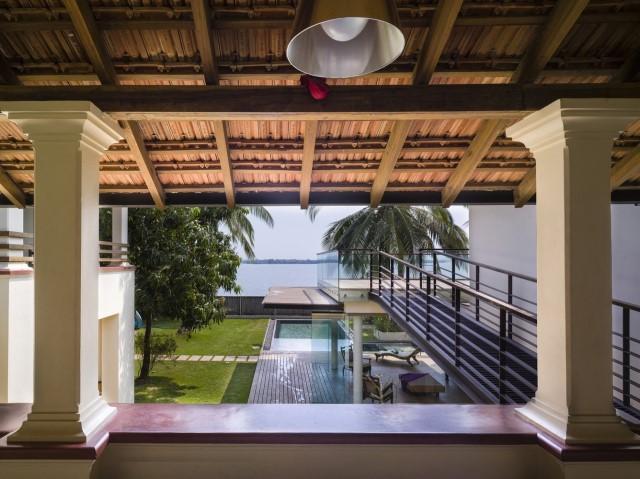 Large villa house Modern retro style (4)