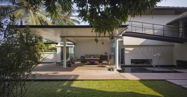 Large villa house Modern retro style (7)