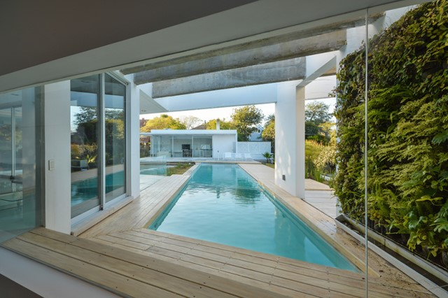Modern house white tone with swimming pool Garden Nature (5)