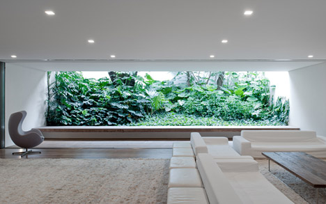 Villa house cement wood glass with swimming pool (8)
