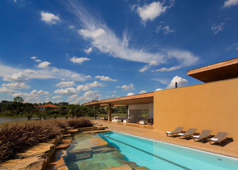 Villas house with swimming pools  modern design Warm colors (18)