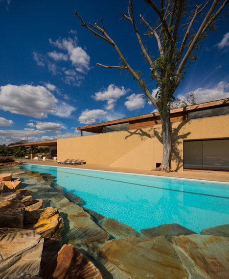 Villas house with swimming pools  modern design Warm colors (5)