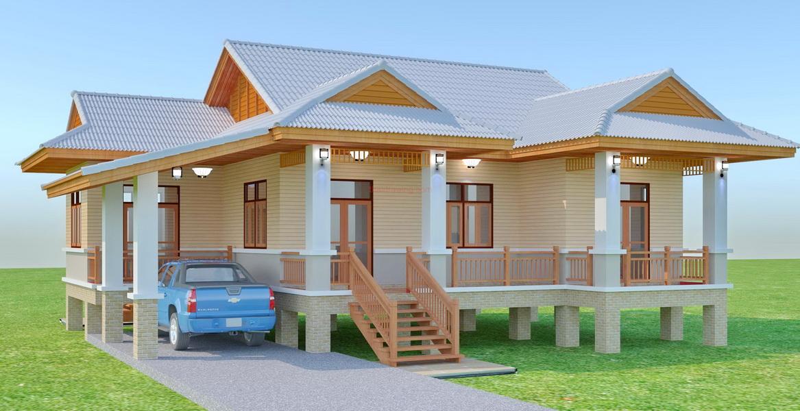 beautiful 150 sqm resort house plan (1)