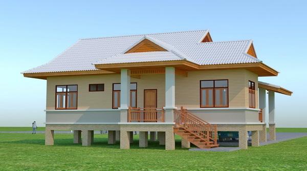 beautiful 150 sqm resort house plan (2)
