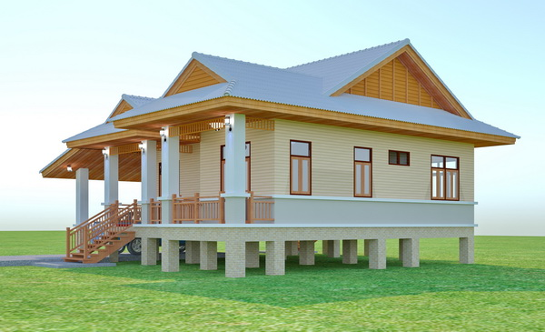 beautiful 150 sqm resort house plan (5)