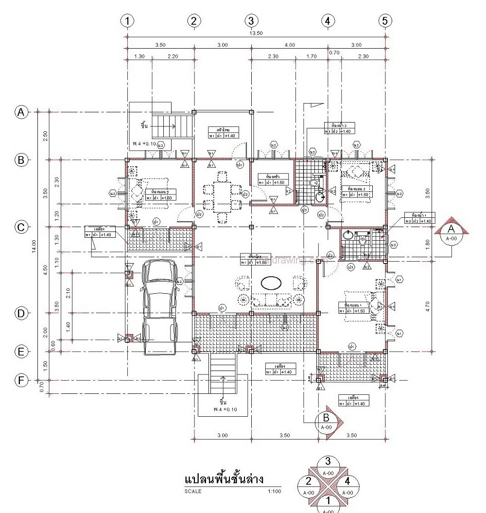 beautiful 150 sqm resort house plan (6)