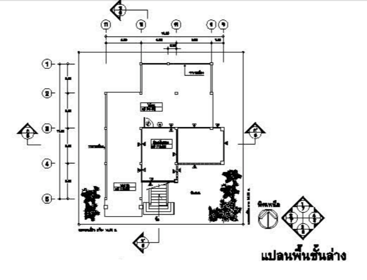 blue roof thai contemporary house plan (2)