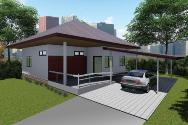 small sized house with patio and parking lot (1)