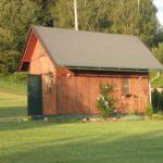 บ้านกระท่อมหลังเล็ก 1 ห้องนอนบนชั้นลอย เหมาะกับบ้านสวน บ้านตากอากาศ รวมทั้งแบบบ้านพักรีสอร์ทขนาดเล็ก
