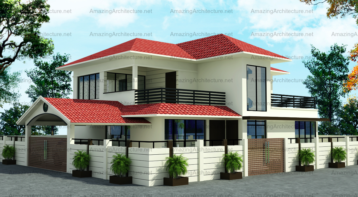 two-storey contemporary house luxury Decorated (1)