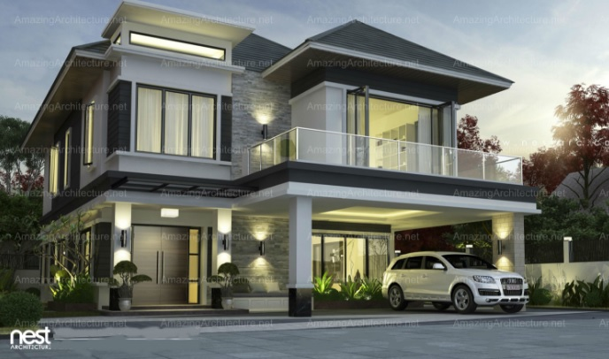 two-story contemporary home (3)
