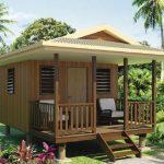บ้านกระท่อมขนาดเล็ก 1 ห้องโถงภายใน เหมาะกับกระประยุกต์เป็นบ้านสวน บ้านตากอากาศ