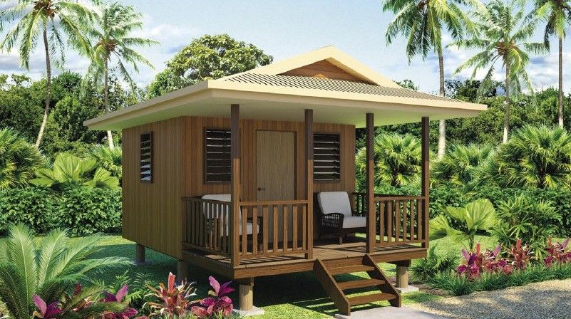 wooden House on stilts bungalow style (2)