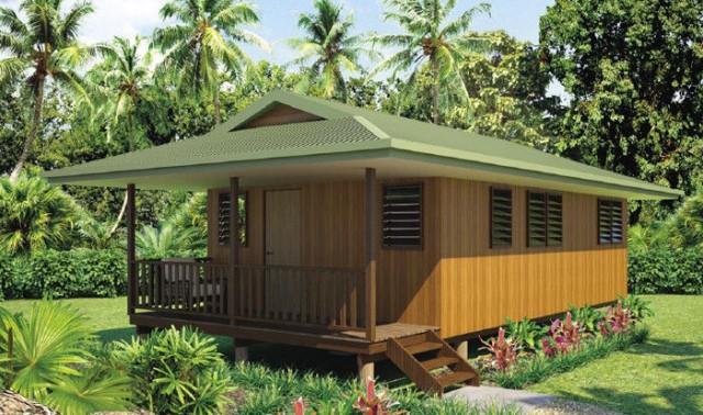 wooden bungalow house 4 bedroom (1)
