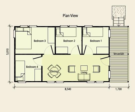 wooden bungalow house 4 bedroom (2)