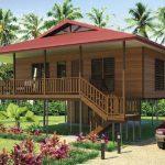 บ้านไม้บังกะโล ยกใต้ถุนสูง 3 ห้องนอน 1 ห้องน้ำ ตกแต่งรับกับรสนิยมของคนไทย
