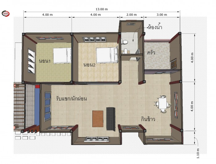 1-storey-3-bedroom-thai-country-house-5