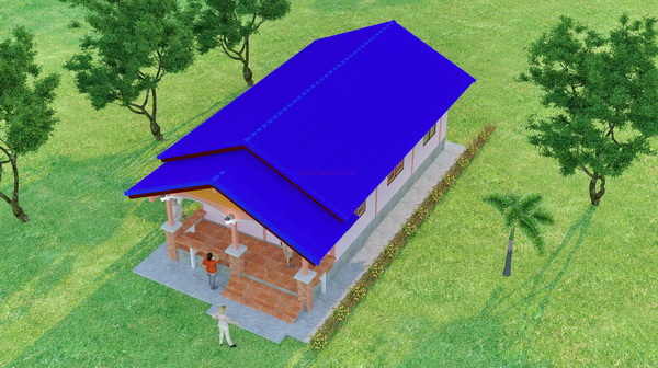 1 storey country gable house (4)