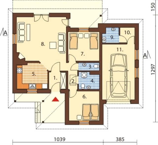 1-story contemporary home 2 bedroom 2 bathroom (2)
