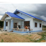 Review : สร้างบ้านหลังน้อยสำหรับครอบครัวเล็ก พื้นที่ 100 ตร. ม. งบประมาณ 5 แสนบาท
