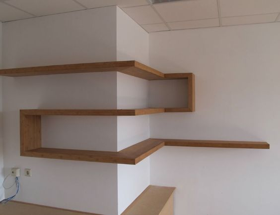 13 wooden minimal shelve ideas (10)