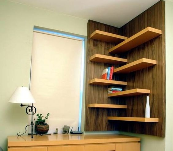 13 wooden minimal shelve ideas (11)