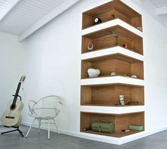 13 wooden minimal shelve ideas (12)