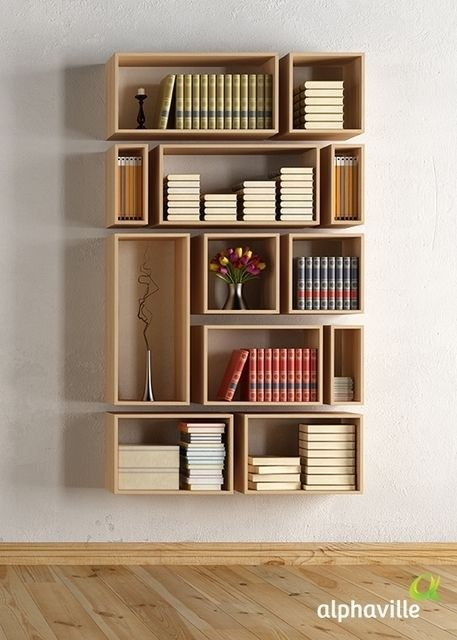 13 wooden minimal shelve ideas (2)