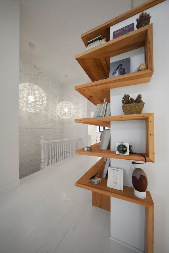 13 wooden minimal shelve ideas (5)