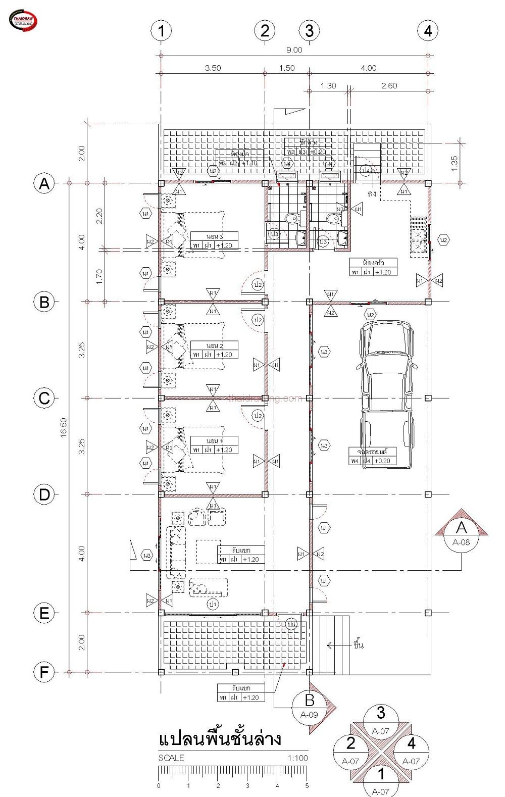 1m 3 bedroom simple modern house (6)
