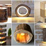 28 ไอเดีย โคมไฟจากงานไม้ รังสรรค์จากของเหลือใช้ต่าง สวยงาม เป็นเอกลักษณ์