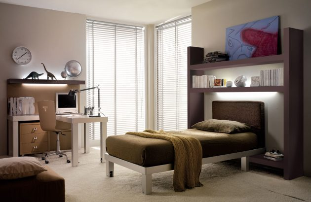 30 ideas modern bedroom and two-tone (4)