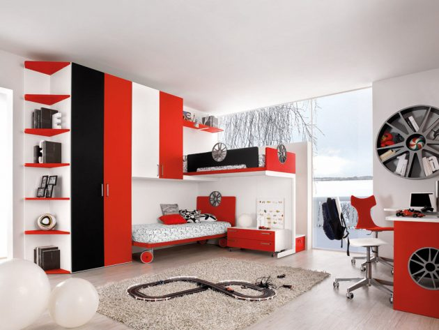 30 ideas modern bedroom and two-tone (6)