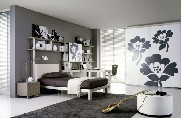 30 ideas modern bedroom and two-tone (9)