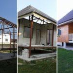สร้างบ้านหลังเล็กด้วยโครงเหล็ก เสร็จภายใน 3 เดือนกว่า ราคารวม 420,000 บาท