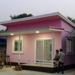 Review : บ้านสไตล์โมเดิร์นสีชมพูสดใส พื้นที่ 45  ตร.ม. งบก่อสร้าง 450,000 บาท