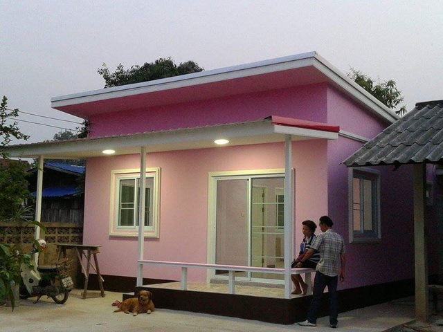45sqm pink modern house review (2)