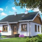 บ้านชั้นเดี่ยว ขนาดเล็กกะทัดรัด ตกแต่งแบบร่วมสมัย วัสดุจากคอนกรีต ในงบ 7 แสนบาท