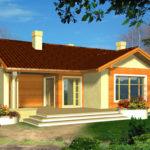 บ้านร่วมสมัยขนาดเล็ก 2 ห้องนอน 1 ห้องน้ำ อยู่ในงบการก่อสร้างไม่เกิน 8 แสนบาท