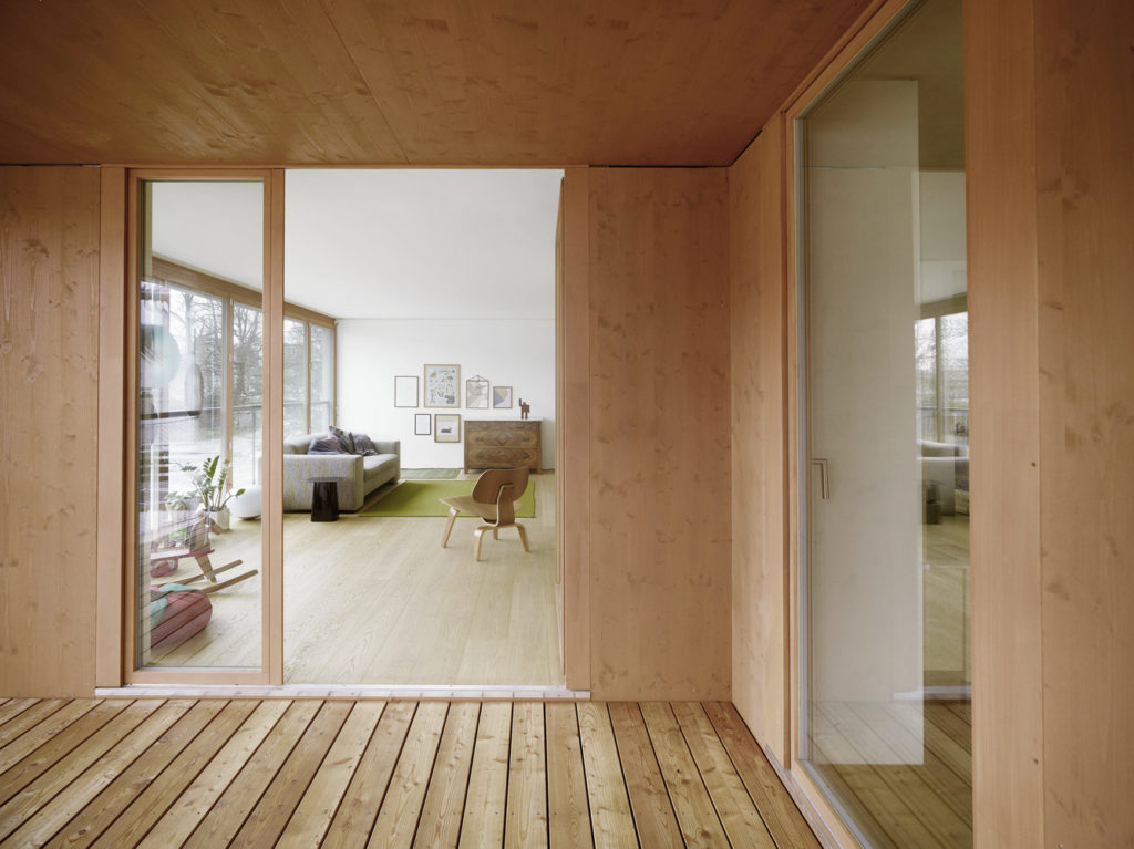 Contemporary home Simple Decorated with cement wood (6)